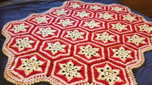 Crochet Scandinavian Snowflake Afghan by Mikey
