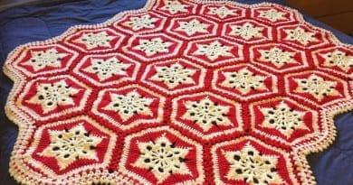 Crochet Scandinavian Snowflake Afghan by Mikey
