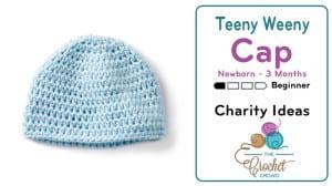 Crochet Teeny Weeny Up To 3 Months Crochet Hat Pattern