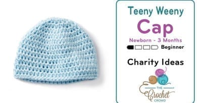 Crochet Teeny Weeny Up To 3 Months Crochet Hat Pattern