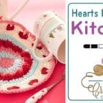 Crochet Valentines Dishcloth + Tutorial