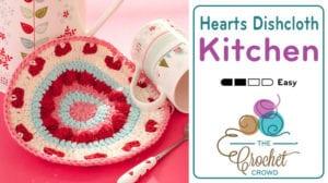 Crochet Valentines Dishcloth