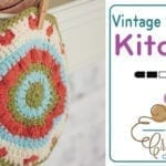 Crochet Vintage Blossom Dishcloth + Tutorial