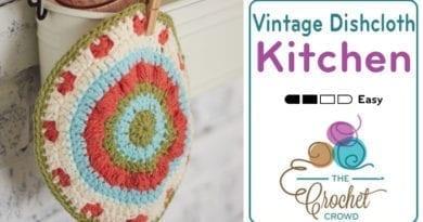 Vintage Blossom Crochet Dishcloth