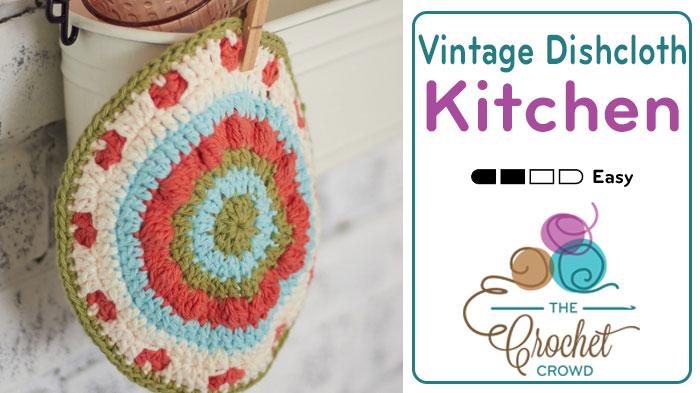 Crochet Vintage Blossom Dishcloth Pattern