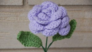 Crocheted Rose by Jeanne Steinhilber for Mother's Day