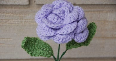 Crocheted Rose by Jeanne Steinhilber