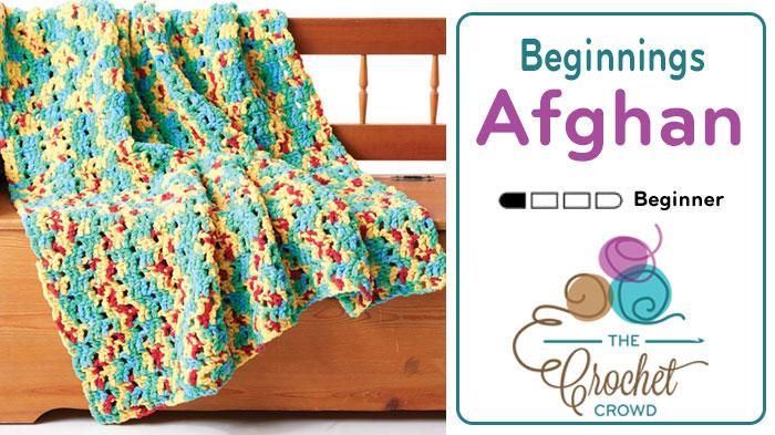 Crochet Bright Beginnings Blanket Pattern + Tutorial