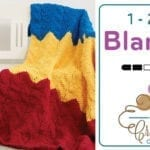 Crochet 1-2-3 Blanket + Tutorial