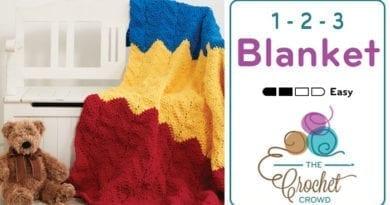 Crochet 1-2-3 Blanket Pattern