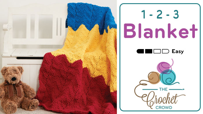 Crochet 1-2-3 Blanket Pattern