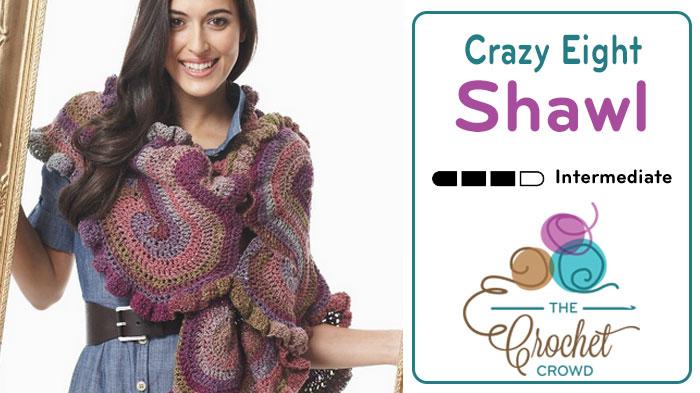 Crazy Eight Shawl Crochet Pattern