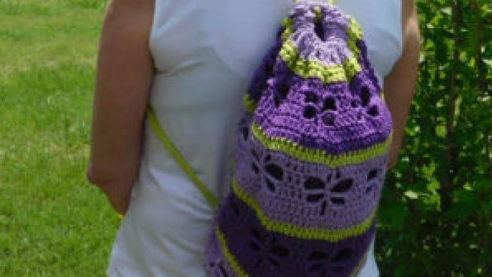 Crochet Dragonfly Bag