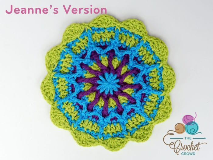 Crochet Crossroads Mandala, Crocheted by Jeanne Steinhilber
