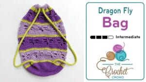 Crochet Dragon Fly Bag by Laura Jean Bartholomew