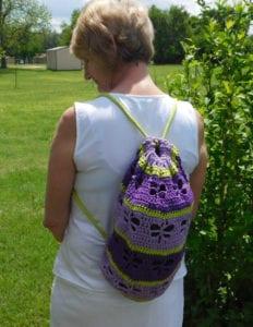 Crochet Dragon Fly Bag by Laura Jean Bartholomew