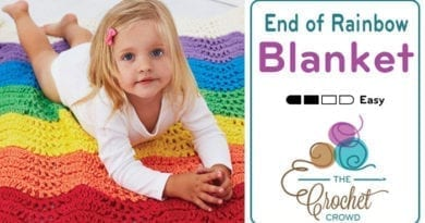 Crochet End of the Rainbow Blanket