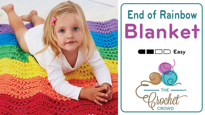 Crochet End of The Rainbow Blanket Pattern + Tutorial