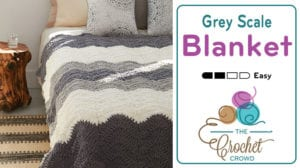 Crochet Grey Scale Blanket