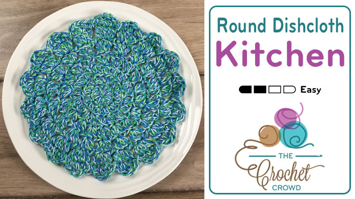 Crochet Round Dishcloth Pattern