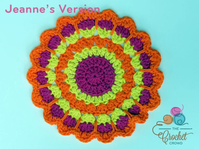 Crochet Shells Mandala, Crocheted by Jeanne Steinhilber