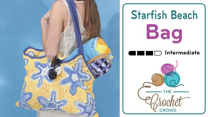 Crochet Starfish Beach Bag Pattern