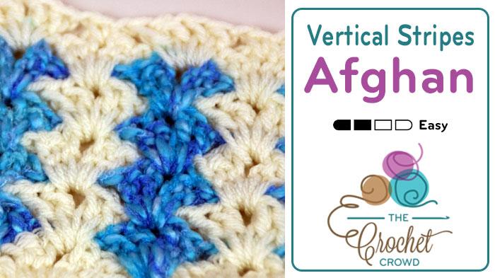 Crochet Vertical Stripes Blanket Pattern + Tutorial