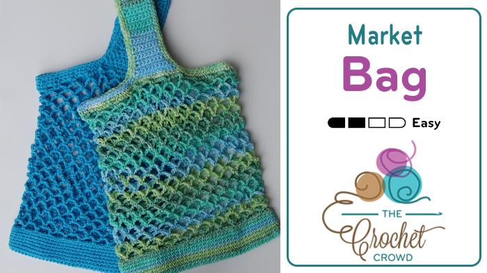 Crocheted Market Bag Pattern + Tutorial
