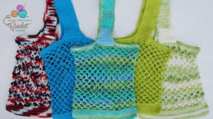Market Bags crocheted by Jeanne Steinhilber