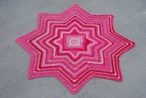 Square Blanket crocheted by Jeanne Steinhilber