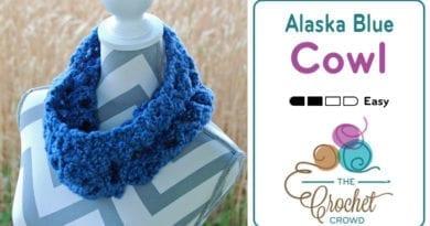 Crochet Alaskan Blue Cowl by Jeanne Steinhilber