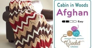 Crochet Cabin in the Woods Afghan