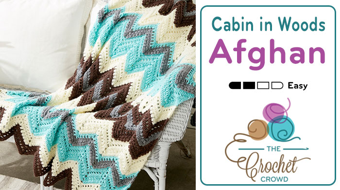 Crochet Cabin in the Woods Afghan