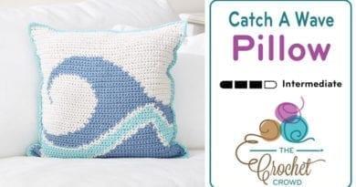 Crochet Catch A Wave Pillow