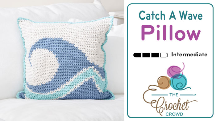 Crochet Catch A Wave Pillow