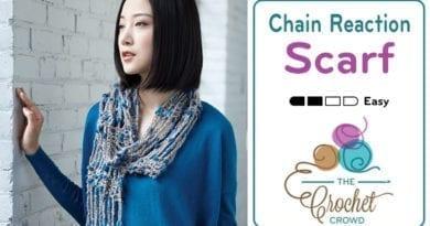 Crochet Chain Reaction Scarf Pattern