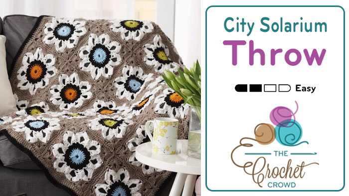 Crochet City Solarium Throw Pattern + Tutorial