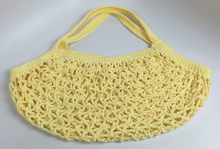 Crochet Market Bag Front View