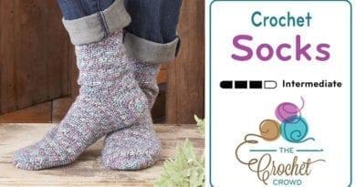 Crochet Socks Pattern + Tutorial