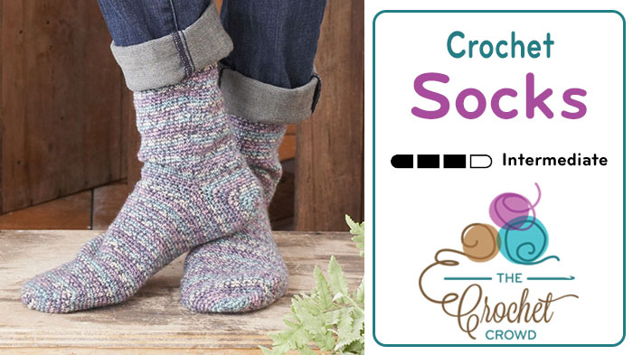 How To Crochet Socks For Beginners Tutorial The Crochet Crowd