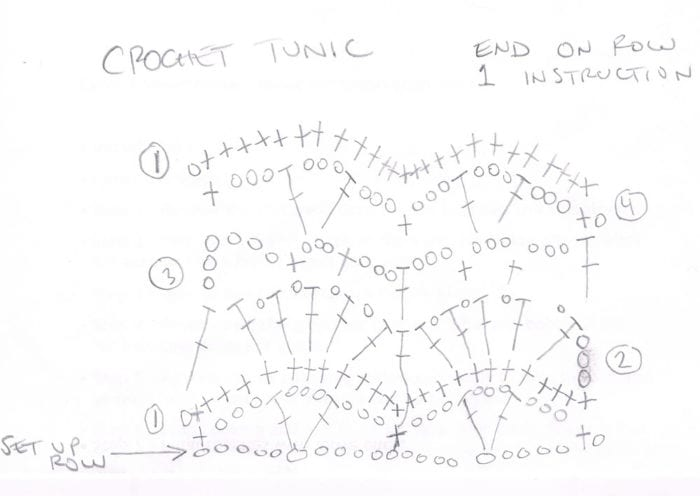 Crochet Tunic Diagram by Mikey