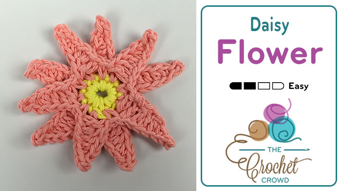 How To Crochet Daisies Tutorial The Crochet Crowd