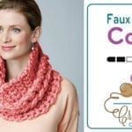 Crochet Faux Cable Cowl + Tutorial