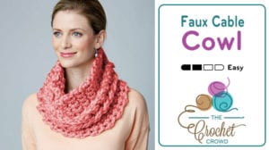 Crochet Faux Cable Cowl Pattern