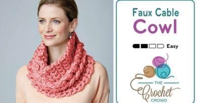 Crochet Faux Cable Cowl Pattern