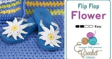 Crochet Flower Flip Flops