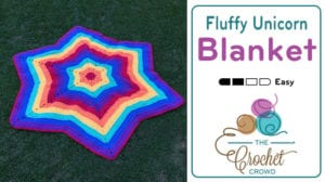 Crochet Fluffy Unicorn Blanket