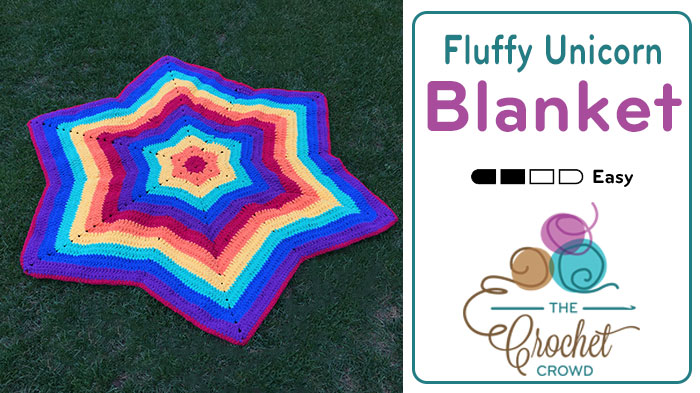 Crochet Fluffy Unicorn Blanket