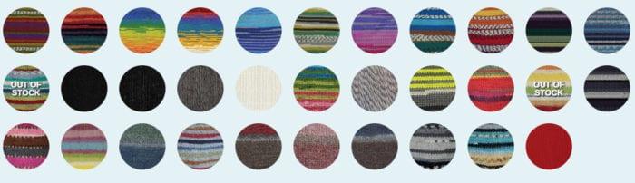 Kroy Socks Yarn Colour Palette