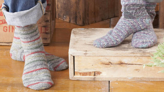 Crochet Socks for Beginners Pattern